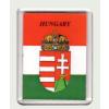 Magyar címer Hungary felírattal hűtőmágnes (műanyag keretes mágnes)