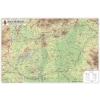 Magyarország domborzata és vizei 123x89 cm Műanyag léccel