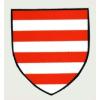 Árpádsávos pajzs hűtőmágnes (7,2*8 cm)