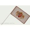 Farkasfogas barna angyalos zászló 15x25 cm, 40 cm-es műanyag rúddal