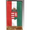 Asztali nemzeti címeres zászló 15X26,5 cm