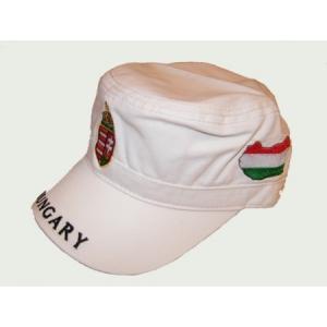 Militari sapka fehér, címeres Magyarországos