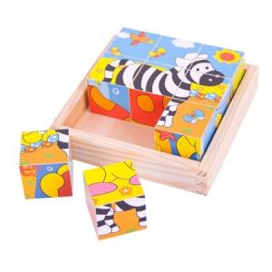 Szafari állatok - kocka puzzle