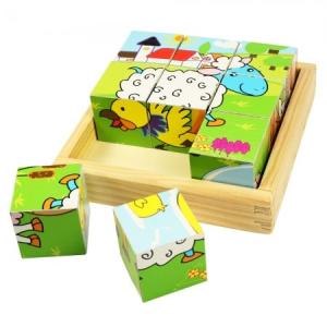 Állatos kocka puzzle