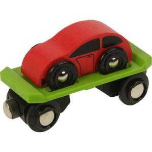 Autószállító vagon autóval