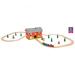 Vasútállomás - hordozható vonat szett - 40 db