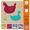 DJECO des. - Farm animals stencils