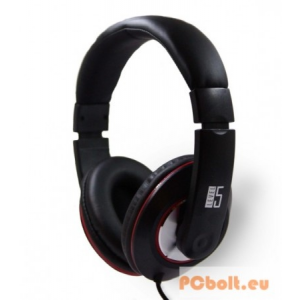 Level5 LF-01K Headset Black Headset,2.0,3.5mm,Kábel:2m,32Ohm,20-20000Hz,Mikrofon,Black