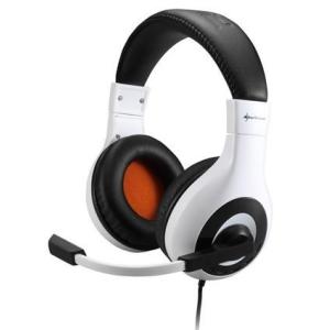 Sharkoon Sharkoon Fejhallgató - Rush Core (mikrofon; 3.5mm jack; hangerőszabályzó; nagy-párnás; 2.3m kábel; fehér-fekete)