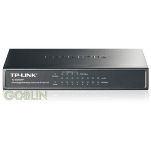 TP-Link Switch 8x1000Mbps ebből 4 port POE SG1008P