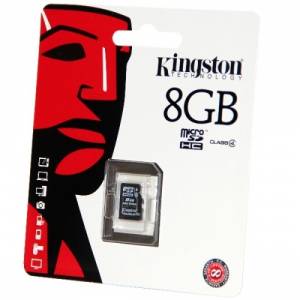 Kingston 8GB Micro SecureDigital (SDHC) Kingston , Class 4
