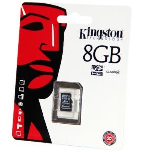Kingston 8GB Micro SecureDigital (SDHC) Kingston , Class 4
