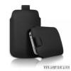 CELLECT iPhone 4/4S méretű slim bőr tok, Fekete