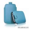 CELLECT iPhone 5/5S méretű slim bőr tok, Kék