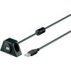 Goobay USB hosszabbító kábel USB 2.0 anya/apa, fekete, 3 m, goobay