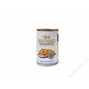 Brit Care Boutiqoes Gourmandes Konzerv True Meat Bits Rabbit 12db 400g