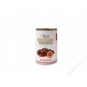 Brit Care Boutiqoes Gourmandes Konzerv True Meat Bits Beef 12db 400g