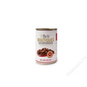 Brit Care Boutiqoes Gourmandes Konzerv True Meat Bits Beef 12db 400g