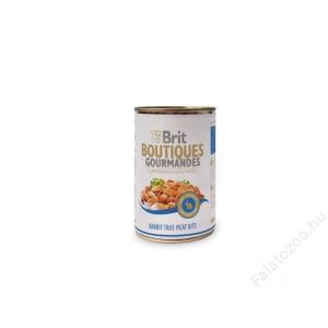 Brit Care Boutiqoes Gourmandes Konzerv True Meat Bits Rabbit 400g