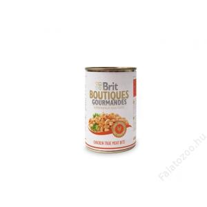 Brit Care Boutiqoes Gourmandes Konzerv True Meat Bits Chicken 12db 400g