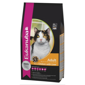 Eukanuba cat adult chicken & liver 400g