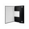 DONAU Tépőzáras mappa, 15 mm, PP/karton, merevített, A4, DONAU, fekete