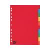 5 Star Regiszter, karton, A4, 10 részes, 5 STAR, színes
