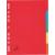 5 Star Regiszter, karton, A4, 5 részes, 5 STAR, színes