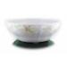 . Salátás tál, porcelán, négyszögletes, 23 cm, ROTBERG, zöld virágos
