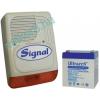 Kültérik akkumulátorral SIGNAL PS-128A + 4Ah akkumulátor
