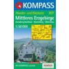 WK 807 - Erzgebirge, Mittleres turistatérkép - KOMPASS