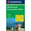 WK 61 - Wörthersee - Karawanken West turistatérkép - KOMPASS
