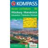 WK 166 - Würzburg-Maindreieck-Schweinfurt turistatérkép - KOMPASS