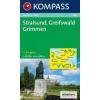 WK 858 - Stralsund-Greifswald-Grimmen turistatérkép - KOMPASS