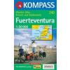 WK 240 - Fuerteventura turistatérkép - KOMPASS
