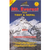 Mt Everest from Tibet and Nepal (No.32) térkép - Himalayan Maphouse