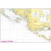 Sibenik - Split hajózási térkép - Naval-Adria 100-21