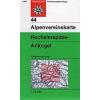 Hochalmspitze, Ankogel turistatérkép - Alpenvereinskarte 44