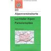 Lechtaler Alpen, Parseierspitze turistatérkép - Alpenvereinskarte 3/3