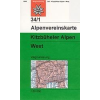 Kitzbüheler Alpen, West turistatérkép - Alpenvereinskarte 34/1