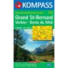 WK 125 - Grand St. Bernard turistatérkép - KOMPASS