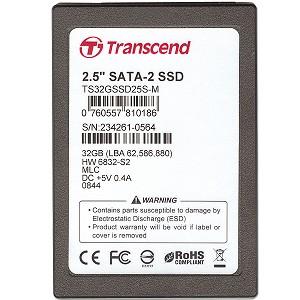 Transcend SSD25S 32GB SATA2 TS32GSSD25S-M