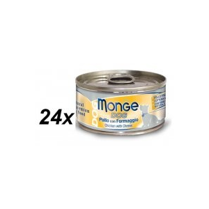 Monge Natural Dog Csirke + Sajt 24 x 95 g