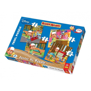 Trefl Trefl Junior 4 az 1-ben puzzle (4,6,9,12 db) - Handy Manny (36110)