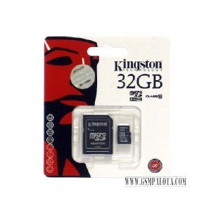 Kingston microSDHC 32GB,1 adapter,class 10