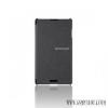 LG Optimus L7 II Flip cover bőr tok, Ezüst