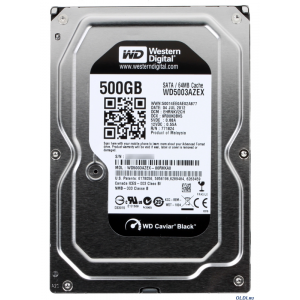 Western Digital 500GB 7200RPM SATA3 64MB WD5003AZEX