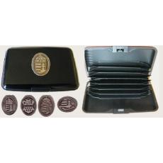Bankkártya tartó metál fekete színű ón Nagy-Magyarország matricával