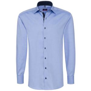eterna modern fit kék ing (finom oxford szövet, kék gombok)