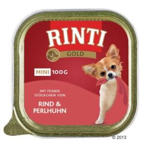 RINTI Gold Mini 6 x 100 g - Marha és gyöngytyúk